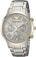 BRAND NEW EMPORIO ARMANI TWO TONE STAINLESS STEEL CHRONOGRAPH MEN WATCH AR11076