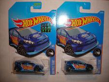 2017 Hot Wheels HW Race Team Series #210 '12 Ford Fiesta Blue Lot 2 Factory Set