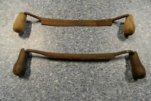 2 Alte Schäleisen Zieheisen Zugmesser Antik