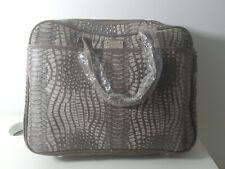 TOTE BAG Snake Effect Handbag Grey by Malissa J