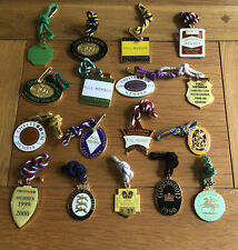 """More details for a collection of 17 enamel members horse racing  badges  """"free postage"""""""