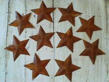 "Rusty Barn Stars 10 pcs Tin Dimensional 2.25"" Wide  Crafts  Primitive  Western"