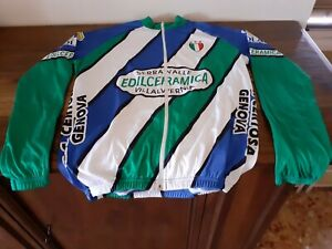 GIACCA JACKET VINTAGE CYCLING CICLISMO TRICOLORE ITALIA 3 STELLE STARS GREEN...