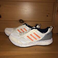 Adidas Adizero Tempo 9 BB6433 White, Grey, and Orange Running Shoes Size 10