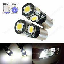 2pcs H6W BAX9s 5 SMD Xenon White LED Daytime Parking Side Light Bulbs Error Free