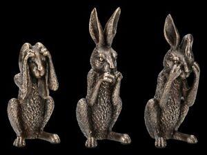 Hasen Figuren - Nichts Böses - Nemesis Now Kaninchen Deko Geschenk