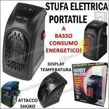 STUFA ELETTRICA PORTATILE A BASSO CONSUMO ENERGETICO 350 W CON DISPLAY DIGITALE