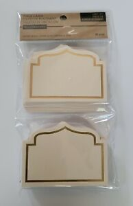 Recollections Craft It Place Cards 30 Pc, Beige With Gold Outline