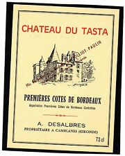 CAMBLANES VIEILLE ETIQUETTE CHATEAU DU TASTA 1950/1960 §03/01/16§