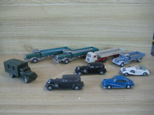WIKING 1/87 (HO Scale)  9 VEHICLES ( 4 Cars & 5 Commercial ) FABULOUS