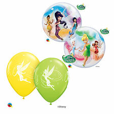 DISNEY TINKER BELL Qualatex Latex & Bubble Balloons (Kids Birthday/Party)