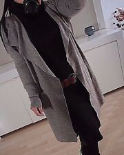 Strick Jacke Neu 42 44 Lana Cardigan Mantel Taupe Blogger Herbst XL Musthave A1