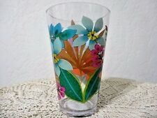 Tropical Floral Melamine Tumbler Clear Flower Glassware 20 ounce BPA Free A