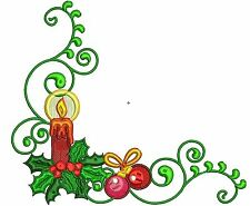 CHRISTMAS BORDERS - 10 MACHINE EMBROIDERY DESIGNS - 2 SIZES - IMPCD10