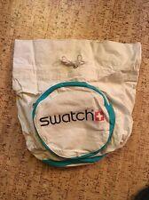 Vintage Swatch Watch Duffle Shoulder Bag Strap Canvas 1980's Travel Carry Sack