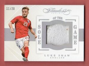 LUKE SHAW 2016 FLAWLESS SOCCER SOLE GAME MATCH USED SHOE PATCH SP # / 20 ENGLAND