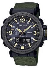 CASIO PRO TREK 3 Sensor Analog Digital Sport Watch Green Cloth Band PRG600YB-3