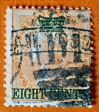 MALAYA 1867 STRAITS SETTLEMENTS 8c opt INDIA QV 2a Used SG#6 M3105