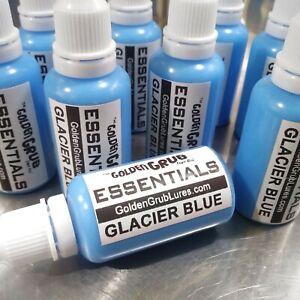 NEW 1 OZ GLACIER BLUE Essentials Dye Color Fishing Soft Plastic Bait Plastisol
