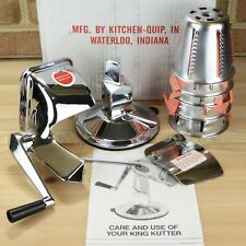 KITCHEN GOURMET KING KUTTER STAINLESS STEEL MANUAL FOOD PRECESSOR IN BOX