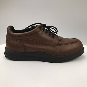 Mens 10 D Red Wing Steel Toe Brown Leather Work Shoes Lace Up Oxfords SD