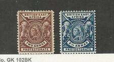 British East Africa, Postage Stamp, #75-76 Mint Hinged, 1896, Jfz