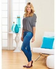 Set Of 3 Women's Fleece-Lined Jean Leggings Casual Pants 3 Colors Plus Size 2X