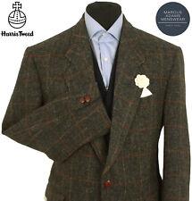 Harris Tweed Jacket Blazer 42R Country Windowpane Check Hacking Hunting Green