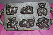 Cast Iron TEDDY BEAR Bake Wear Handle Mold Muffin,Cornbread,Cake,Candy (#S5263)