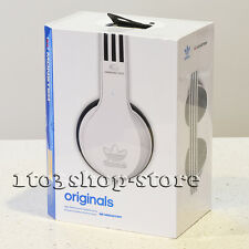 Monster x Adidas Originals Over-Ear Noise Isolation Headphones w/Mic White/Black