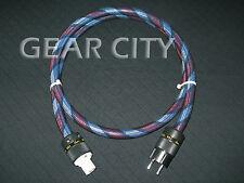 cps6e 1.5m 5ft 16mm EU Mains Power Silver Cable Shield Cord Schuko IEC Plug HiFi