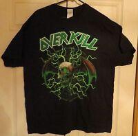 Overkill Sayreville New Jersey Devil Official Tour Shirt Unworn Size XL