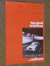 1972 Datsun 180B original Australian double sided single page brochure