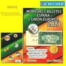 Catálogo GUERRA 2021 MONEDAS Y BILLETES + 300 CARTONES + 10 Hojas 20 Cartones.