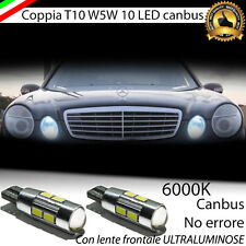 COPPIA LUCI POSIZIONE A 10 LED PER MERCEDES CLASSE E W211 T10 W5W CANBUS