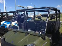 POLARIS RANGER 570 FULL SIZE 6-CREW 1/4 POLYCARBONATE FULL WINDSHIELD 2016-2020