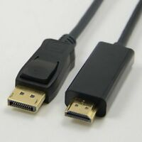 6FT 1.8m Display Port DisplayPort DP to HDMI Cable Adapter Male Gold Plated