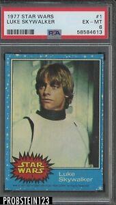 1977 Topps Star Wars #1 Luke Skywalker RC Rookie PSA 6 EX-MT