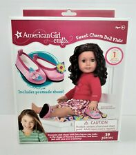 American Girl Crafts Sweet Charm Doll Flats Decorate 1 Pair of Doll Shoes *206