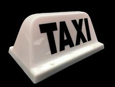 HACKNEY / PRIVATE HIRE TAXI CAB ROOF SIGN SMALL WHITE MAGNETIC TOP LIGHT BOX LED