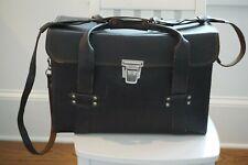 Vintage Hard case camera bag leather Big Photo Bag 35x16x25cm Retro Germany
