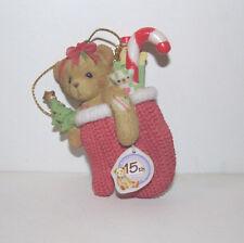 Cherished Teddies X-Mas Christmas Ornament 15th Anniversary BEAR IN MITTEN 2007