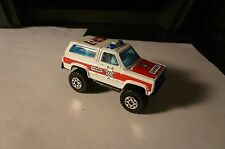 "1983 MATCHBOX SHERIFF SP-7 CHEVY BLAZER 4X4 DIE CAST  3"" L 1:64"