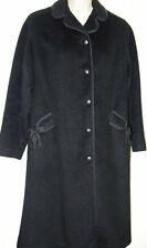 Antique Vintage Ladies Black Wool Coat Miss Style Jenhoe Blin et Blin 10 12