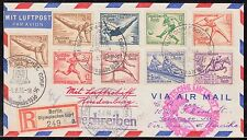 "HINDENBURG FLIGHT COVER ""OLYMPICS"" TO USA COMPLETE SET BQ4892"