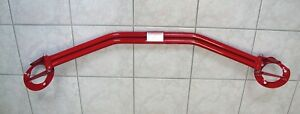 Domstrebe von Wiechers passt für BMW 3er E30 in Stahl rot Doppelrohr Nr.061006