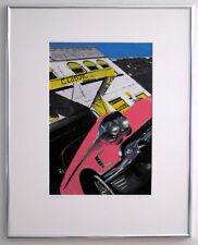 1950s Classic Pink Cadillac Hand Colored Photo Car Art Garage Art decor caddy