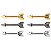 New Nipple Ring Bars Stainless Steel Arrow Nipple Barbell Ring Body Jewellery SP