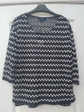 NEXT NAUTICAL NAVY BLUE WHITE STRIPE DELICATE CROCHET OPEN STRIPE KNIT JUMPER 6