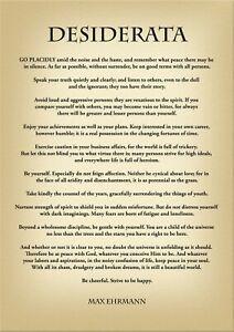 POETRY PRINTS: Invictus, If, Serenity Prayer, Desiderata, Irish Blessing Art